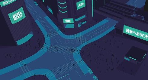 Japan cinematic illustration