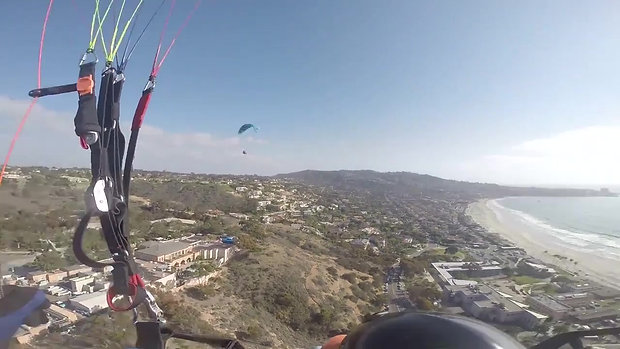 Paragliding Torrey Pines - Views of San Diego Coastline