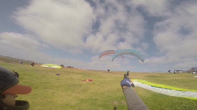 Paragliding Torrey Pines - Instruction to Flight Take Off