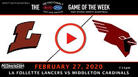 La Follette Lancers vs Middleton Cardinals