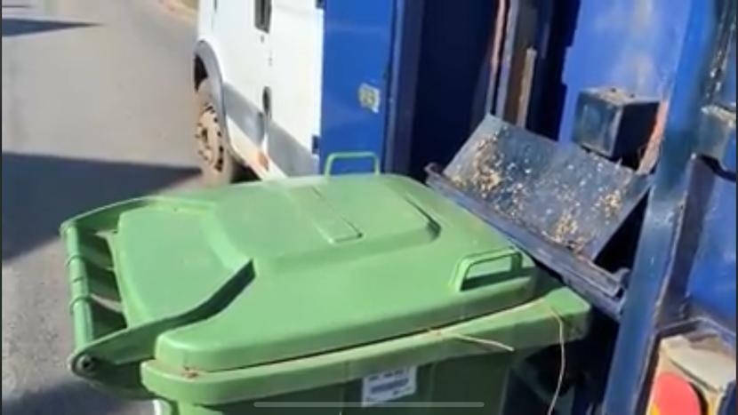 Green bin emptying!