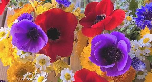 Spring Milk Jar Bouquets