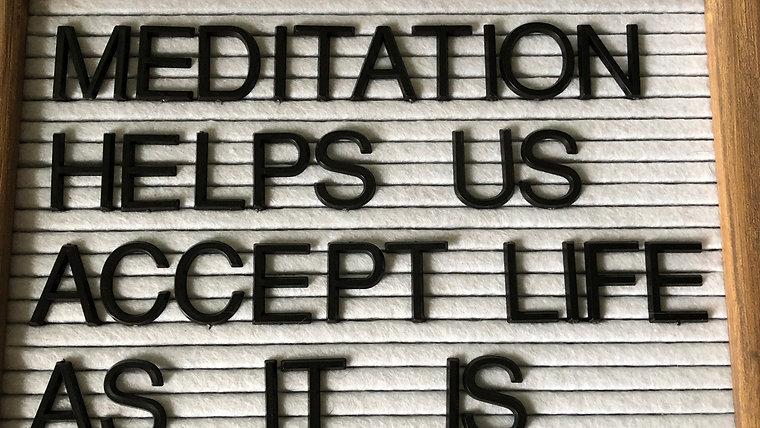 Live Meditation Series 10/30 - 11/6