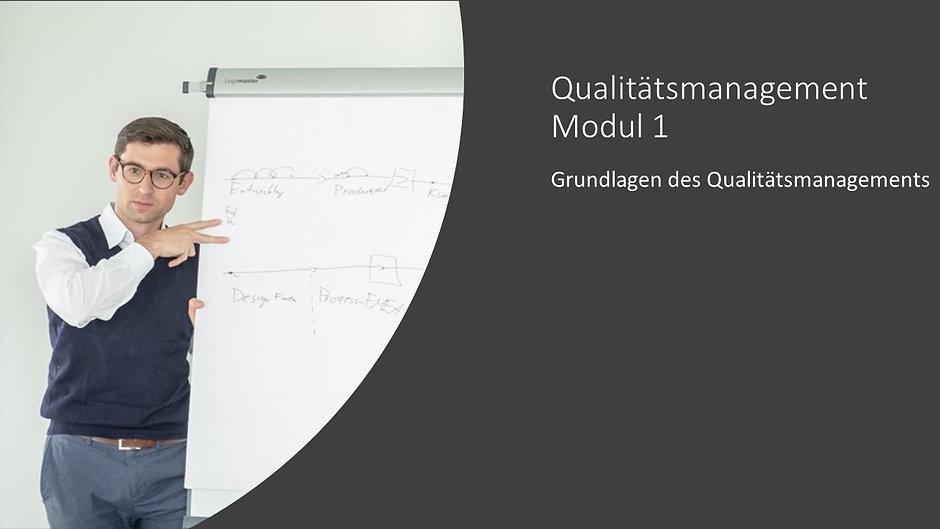Qualitätsmanagement Modul 1