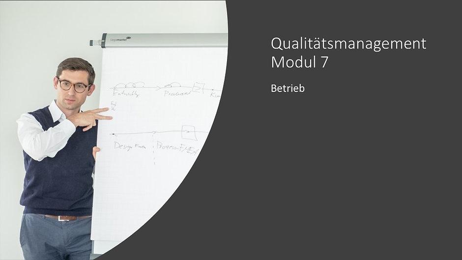Qualitätsmanagement Modul 7