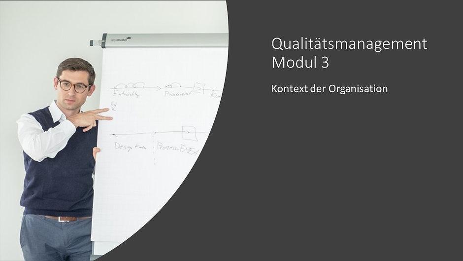 Qualitätsmanagement Modul 3