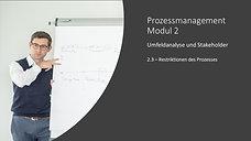 2.3 - Restriktionen des Prozesses
