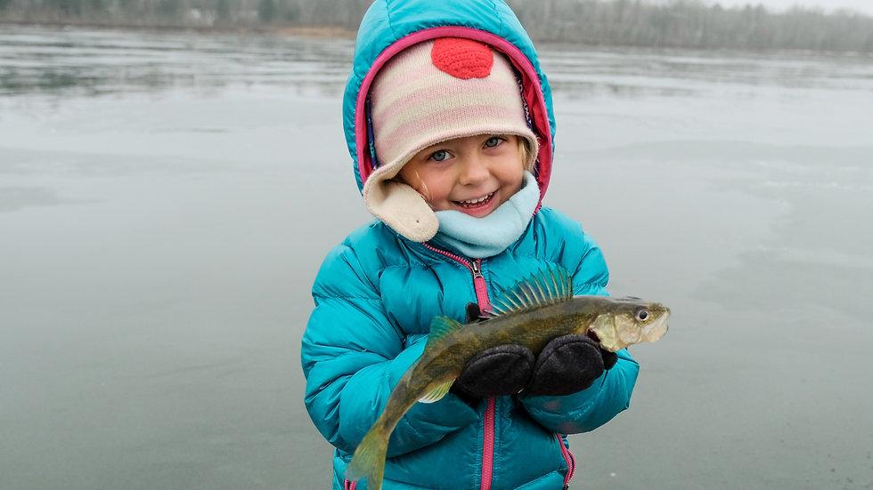 Early Ice Walleye Fishing