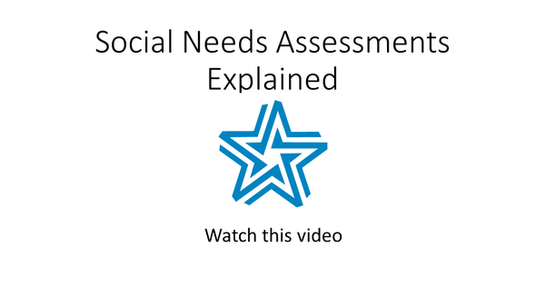 Social needs assessments