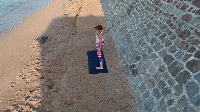 Christina Yoga in Cannes