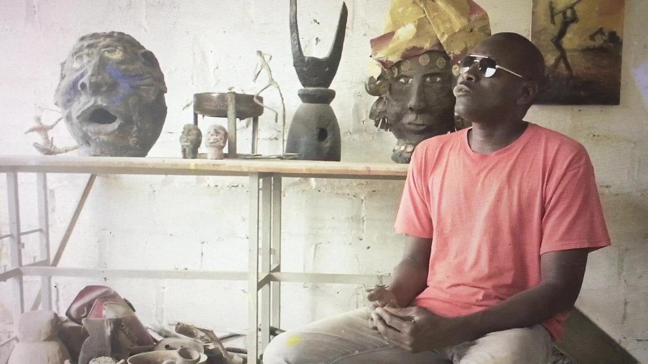 Saliou Diop dans son atelier