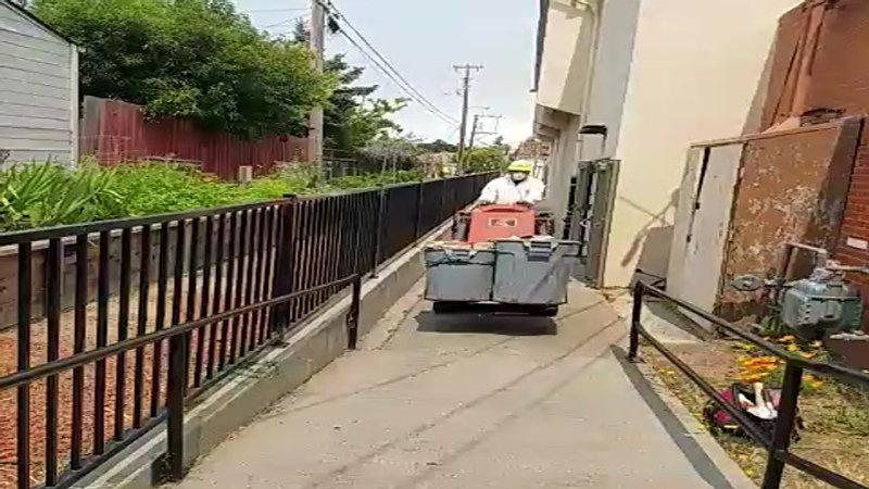 Working in Tight Places - Moving Brick Veneer Down Narrow Walkway