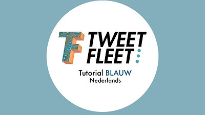 TWEEETORIALS BLAUW NED