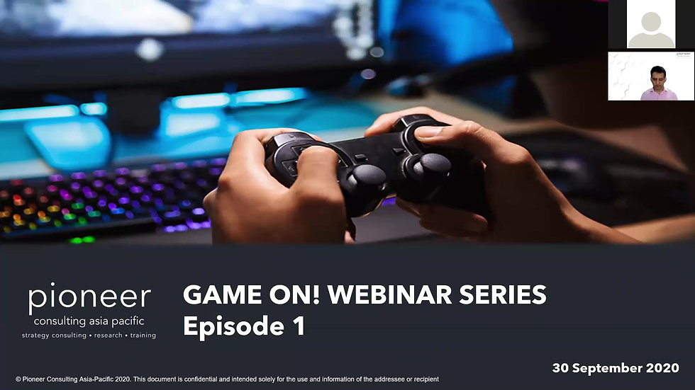 PCA Game On! Webinar Episode 1