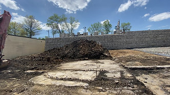 Commercial Retaining Wall: Pittsburgh, PA