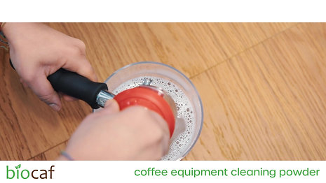 Biocaf Coffee Equipment Cleaning Powder - How to Clean Portafilters and Baskets