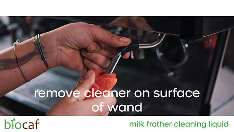 Biocaf Milk Frother Cleaning Liquid - How to Clean Steam Wands