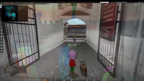 Préparation du vernissage sur Second Life par Moya