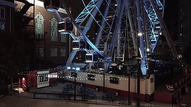 Downtown Atlanta Night - Drone Shot [Ferry Wheel 1]