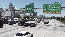 Downtown Atlanta - Drone Shot [Highway 3]