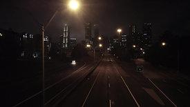 Downtown Atlanta Night - Drone Shot 5