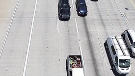 Downtown Atlanta - Drone Shot [Highway 4 - Cars Passing]