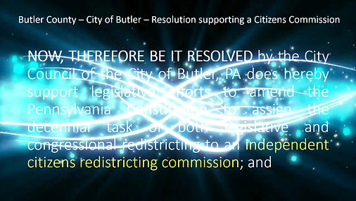 FDPA - City of Butler FDPA Resolution in support of an independent citizens commission for redistricting
