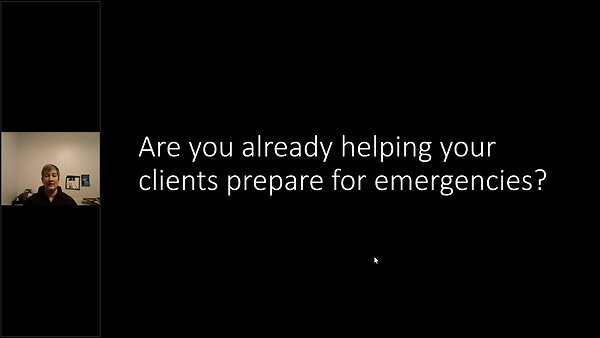 Expand Your Client's Peace of Mind by Preparing for Emergencies and Disasters by Shawndra Holmberg