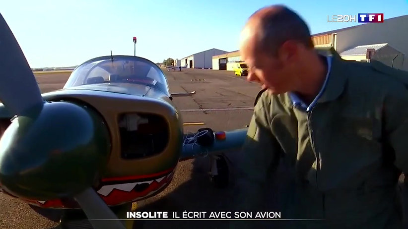 Skywriter Lyon reportage TF1 20 heure du 29 Septembre 2018