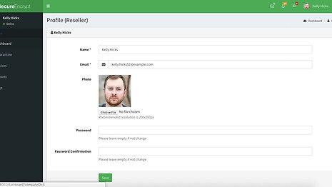 Reseller Webportal Dashboard