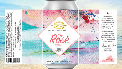 Williamsburg Winery Canned Dry Rosé