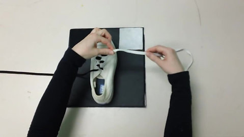 Left Handed Shoelace Tying.MP4