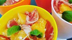 Recette coupe melon jambon feta