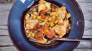 Poulet aux courgettes et chorizo