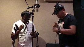 Backup vocals in action