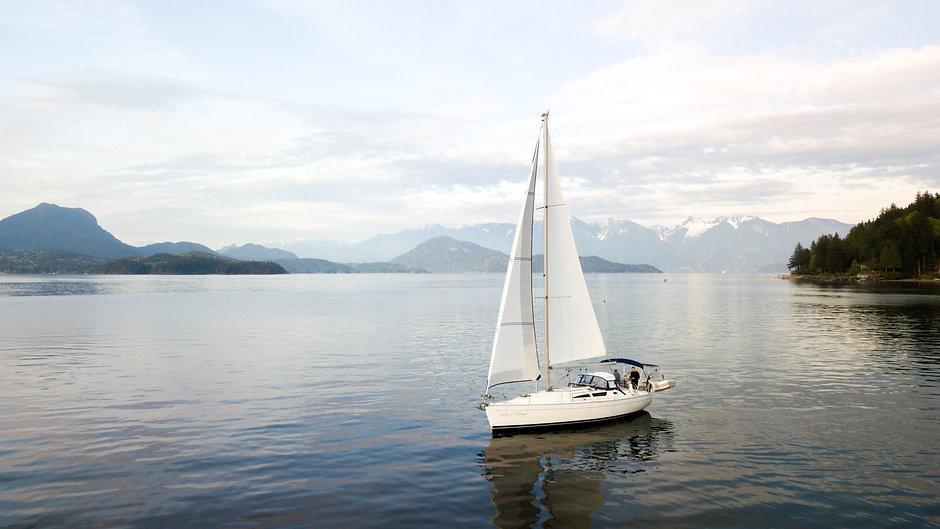 Sailing near Gibsons BC