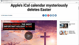 Apple Removes Easter and Good Friday