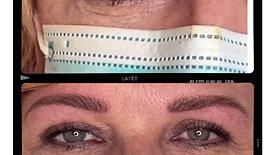Maquillage permanent sourcils. Technique mixte
