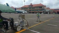iTraff Water Based Paint at Kochi Airport