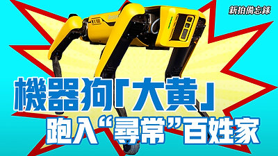"""【新拍備忘錄】機器狗「大黃」 跑入""""尋常""""百姓家"""