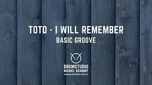 Toto - I Will Remember (Basic Groove)