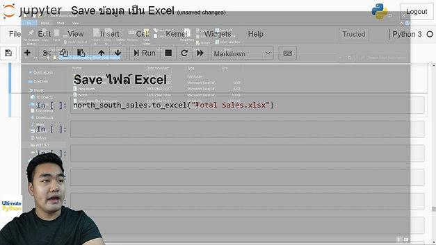 บันทึก DataFrame เป็น Excel