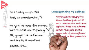 Discussing Corresponding Angles