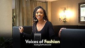Voices of Fashion Testimonial