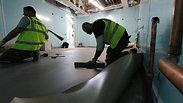 Tarkett Safetread-Mercury coved vinyl work installed by River_Ocean_floors team 👈