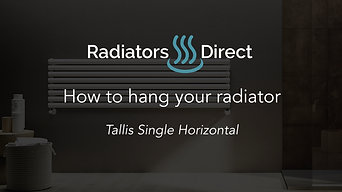 How to hang your Designer Radiator - Tallis Single Horizontal