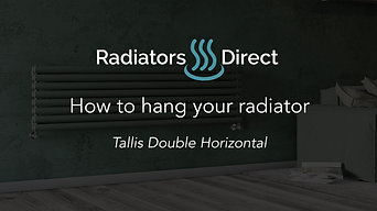 How to hang your Designer Radiator - Tallis Double Horizontal