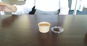 Test pots à sauce en carton