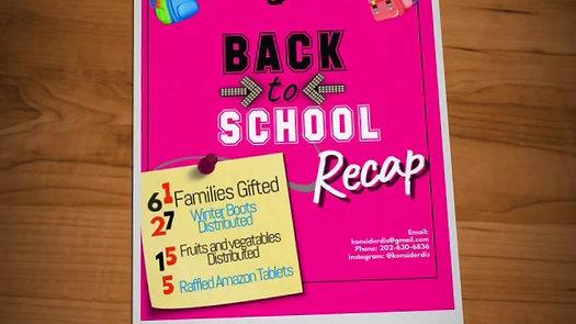 Back to School Recap
