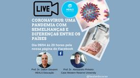 Live Coronoavírus uma pandemia com semelhanças e diferenças entre os países